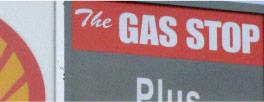 Gas Stop sign closeup