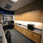 Storage Cabinets in Reception  Area