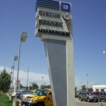 Auto Dealership Pylon Sign
