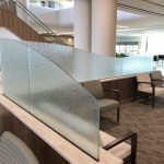 Frost Glass Panels on Divider Walls