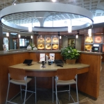 Soffit and Bank Reception Desk