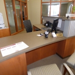 Loan Officer Desk and Countertop