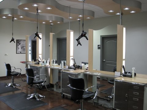 Salon spa custom cabinetry fixture fabrication belle for A creative touch beauty salon