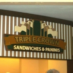 Triple Crown Sandwich Sign