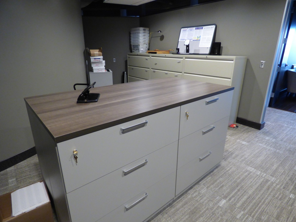 Custom Workroom File Cabinet Countertops