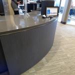 Reception Desk with Zodiaq Quartz Countertops