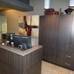 Custom Reception Desk and Cabinets