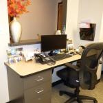 Reception Desk & Pass-Thru Window
