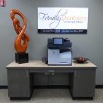 Reception Desk Cabinet & Wall Signage