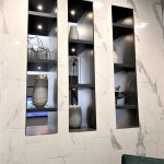 Custom Marble Tile Fireplace Surround
