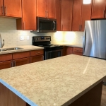 Quartz Countertops on Kitchen Island