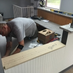Commercial Countertops - installation process