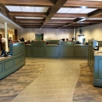 Custom Bank Cabinetry