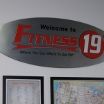 Fitness19 Wall Sign