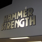 Hammer Strength wall letters