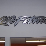 Life Fitness wall letters