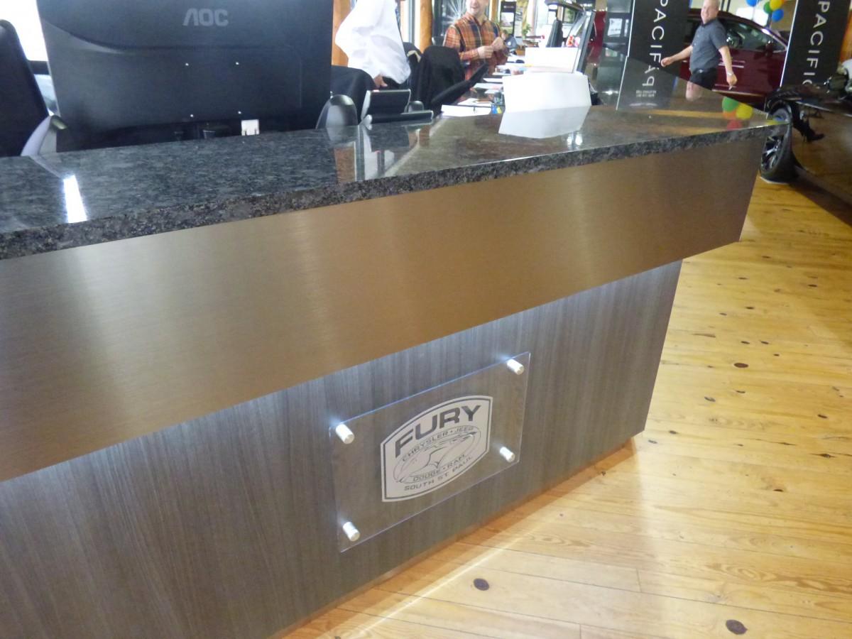 Custom Auto Dealership Cabinets