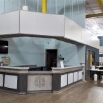 Custom Reception Desk for Fitness Center