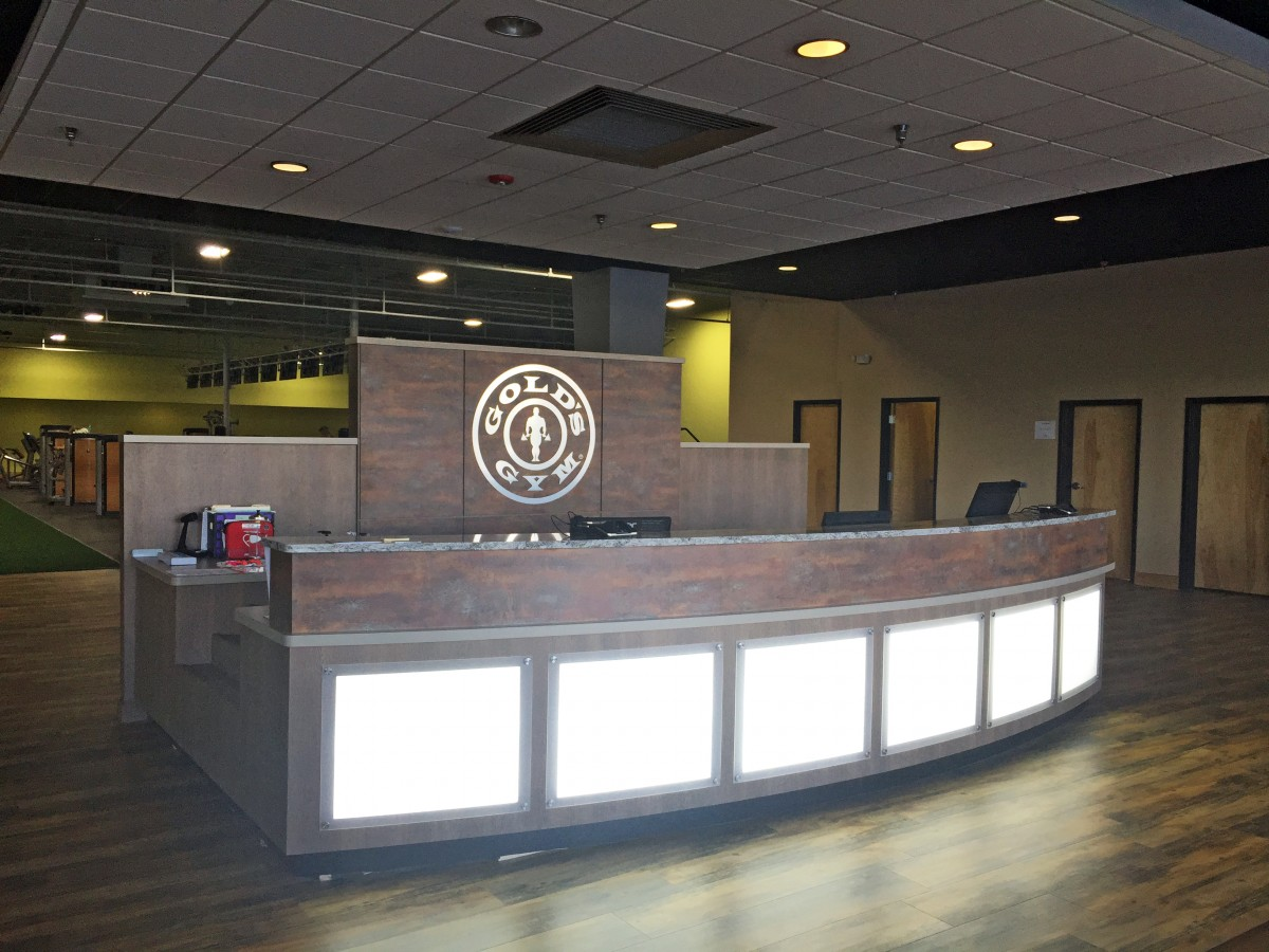 Quality Fitness Center Reception Desk Creative Surfaces