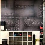 Wall Graphics and Cubbies