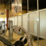 Privacy Panels for Fitness Center