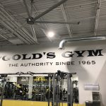 Wall Signage for Gold's Gym