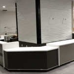 Fitness Center Reception Desk - installation