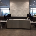 Fitness Center Reception Desk and Wall