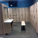 Fitness Center Locker Rooms