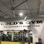 Gold's Gym Interior Branding