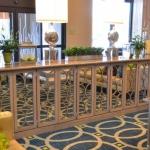 Hotel lobby cabinet