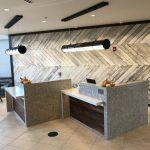 Reception Host Pods and Wall Cladding