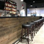 Custom Bar with Forever Barnwood Shiplap face