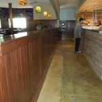 Solid Wood Half Wall for Restaurant
