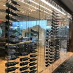 Wine Bottle Display Wall