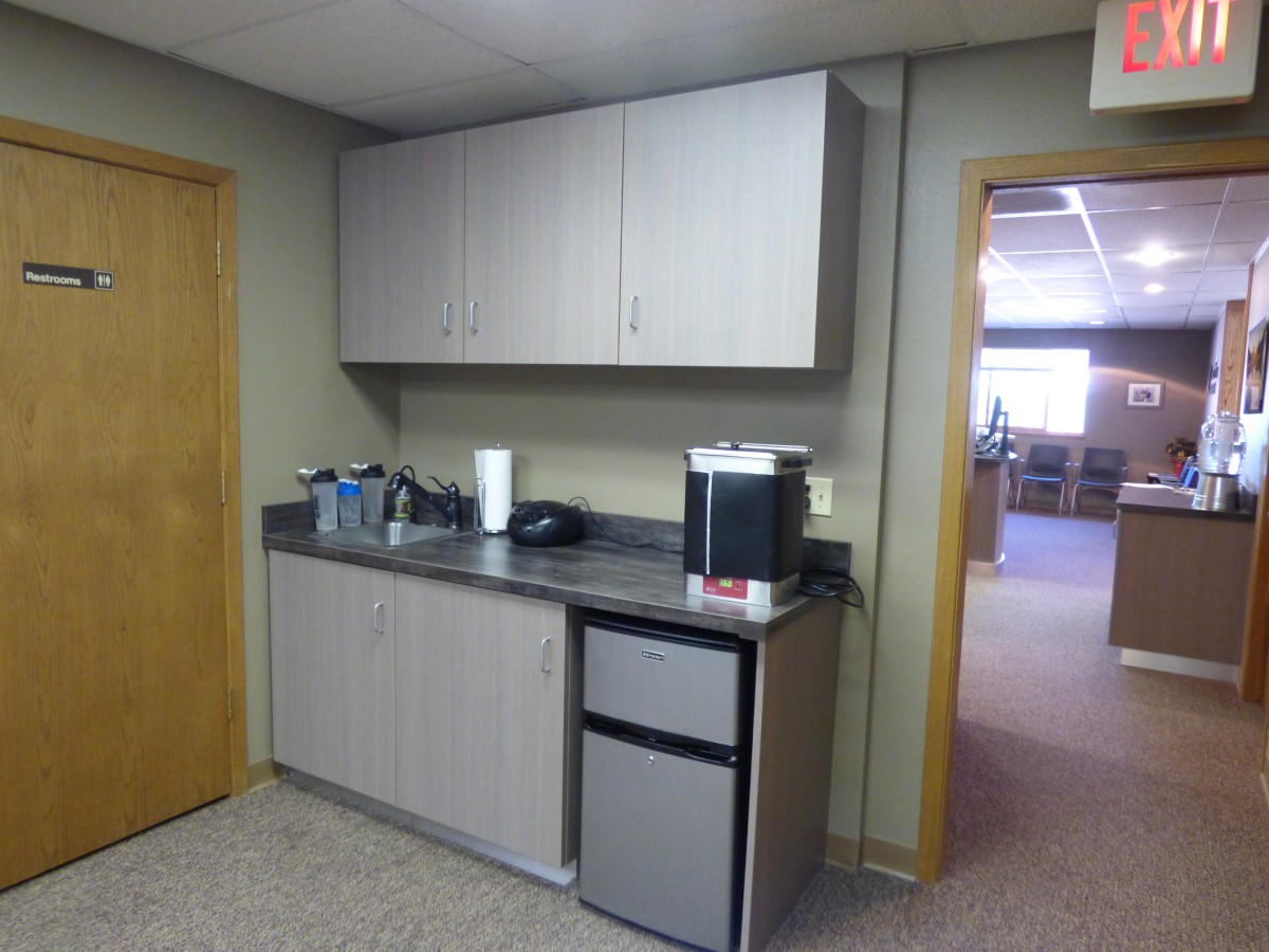 Chiropractic Clinic Cabinetry Creative Surfaces Sioux Falls