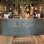 Simply Perfect Reception Desk Sign