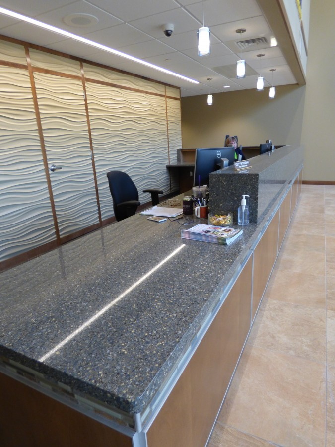 Custom Reception Desk And Countertops