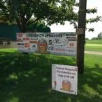 Sponsor Banner & Coreplast Staked sign