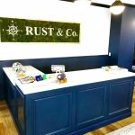 High End Commercial Cabinetry, Reception (POS) Desk for RUST & Co.
