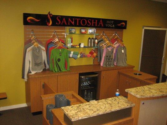 Fitness Center Custom Millwork Santosha Hot Yoga Sioux