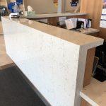 Cambria Apron on Check In Desk