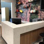 Custom Reception Desk for Outdoor Portal
