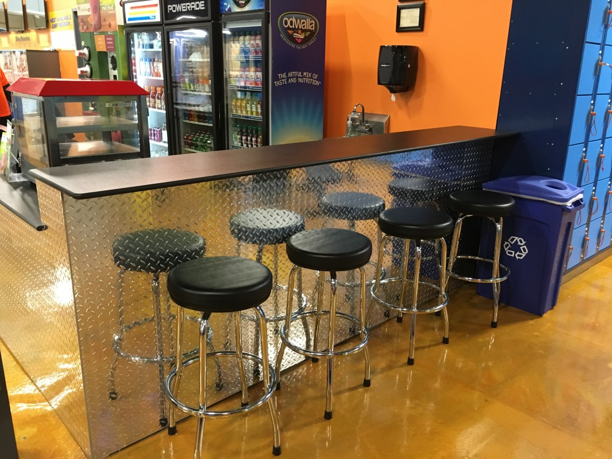 Diamond Plated Concession Stand Counter