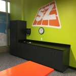 Party Room Cabinets and Graphics
