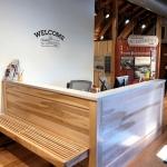 Custom Reception Desk & Bench
