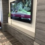 TV Wall Surround and Sitting Ledge