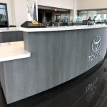 Auto Dealer Reception Desk