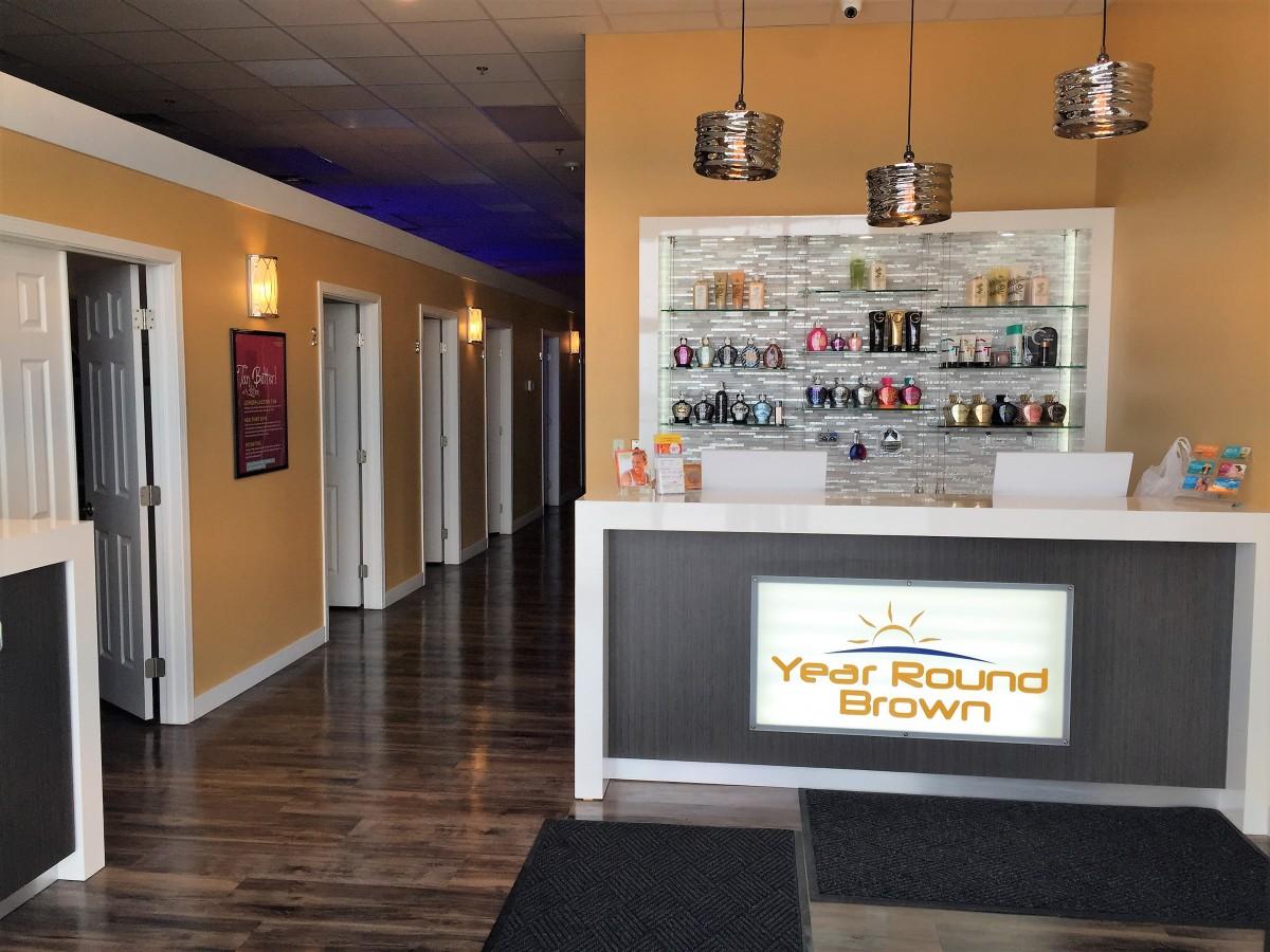 Year Round Brown Benson Road Sioux Falls Creative Surfaces – Tanning Salon Reception Desk