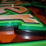 PVC Stacked Letters